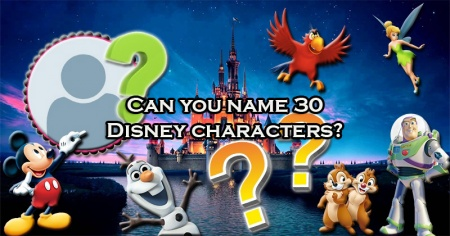 Can you name 30 Disney characters?