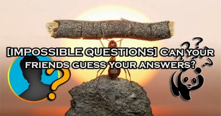 [IMPOSSIBLE QUESTIONS] Can your friends guess your answers?