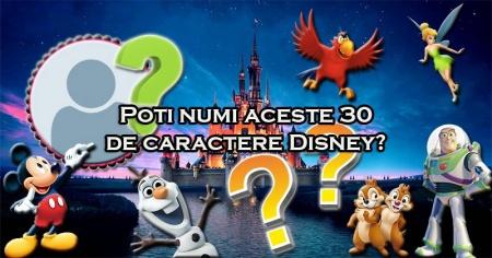 Poti numi aceste 30 de caractere Disney?