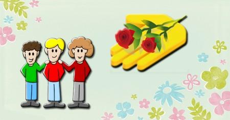 Envie algumas flores aos seus amigos!