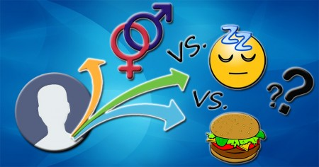 Sex vs. Sleep vs. Food